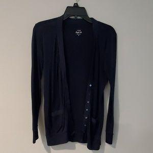 Navy blue long sweater shirt